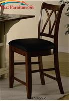 "Dining Chairs and Bar Stools 24"" Wood Bar Stool with Upholstered Seat by Coaster Furniture"
