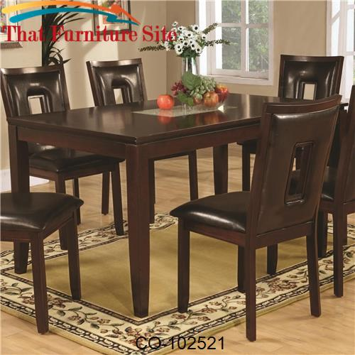 Ervin Contemporary Dining Table With Smooth Cracked Glass
