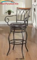 "Dining Chairs and Bar Stools 29"" Decorative Metal Barstool by Coaster Furniture"