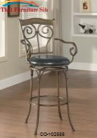 "Dining Chairs and Bar Stools 29"" Scrolled Metal Barstool by Coaster Furniture"