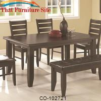 Page Contemporary Rectangular Semi-Formal Dining Table by Coaster Furniture