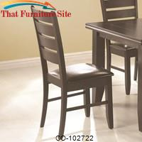 Page Contemporary Slat Back Dining Side Chair with Upholstered Seat by Coaster Furniture