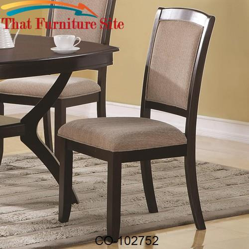 Memphis Side Dining Chair with Upholstered Seat and Back by Coaster Fu