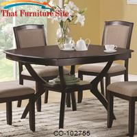 Memphis Rounded Square Dining Table by Coaster Furniture