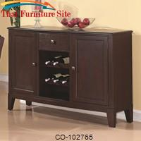Memphis Server with Wine Rack by Coaster Furniture