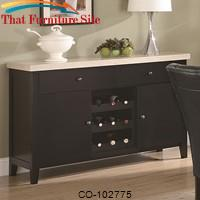 Anisa Dining Server with Wine Rack by Coaster Furniture