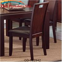 Prewitt Contemporary Dining Side Chair with Upholstered Seat by Coaster Furniture