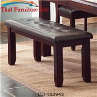 Prewitt Contemporary Dining Bench with Upholstered Seat by Coaster Furniture