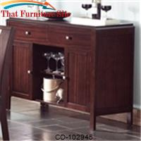 Prewitt Contemporary Server with Open and Closed Storage by Coaster Furniture