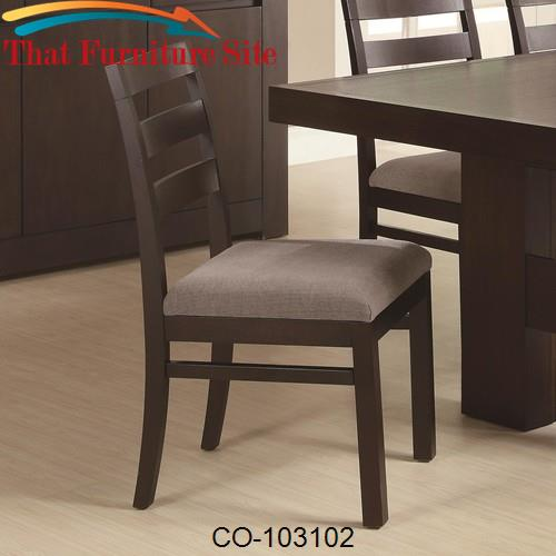 Dabny Ladder Back Dining Chair by Coaster Furniture  | Austin
