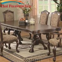 Andrea Traditional Double Pedestal Dining Table by Coaster Furniture