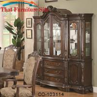 Andrea Dining China Hutch and Buffet by Coaster Furniture