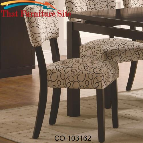 Libby Upholstered Dining Side Chair by Coaster Furniture  | Austin