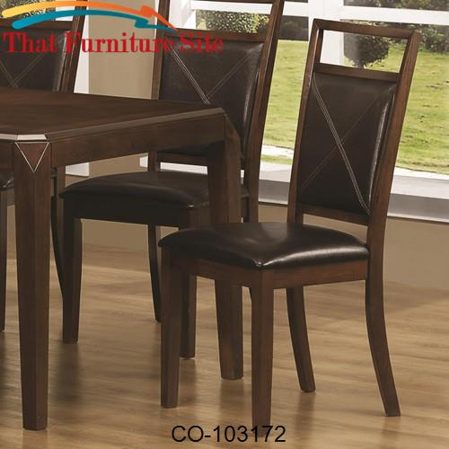 Matilda Contemporary Dining Side with Leather Like Padded Cushions by