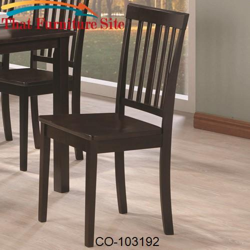 Venice Slat Back Dining Side Chair by Coaster Furniture  | Austin