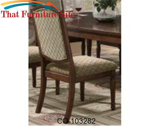 Keely Traditional Dining Side Chair with Carved Detail by Coaster Furn
