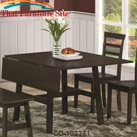 Dining 103370 Casual Dining Table with Drop Leaf by Coaster Furniture