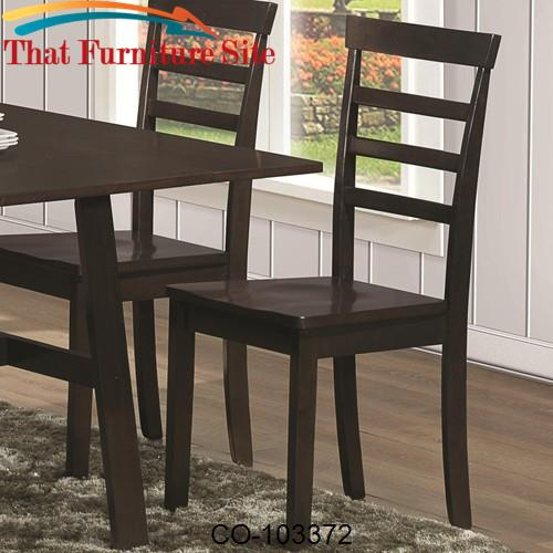 Dining 103370 Casual Dining Side Chair with Slat Back by Coaster Furni