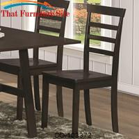Dining 103370 Casual Dining Side Chair with Slat Back by Coaster Furniture