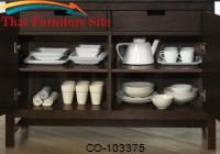 Dining 103370 Casual Server with Two Drawers by Coaster Furniture