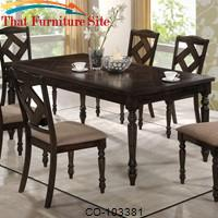 Dining 1033 Rectangular Dining Table with Traditionally Turned Legs by Coaster Furniture