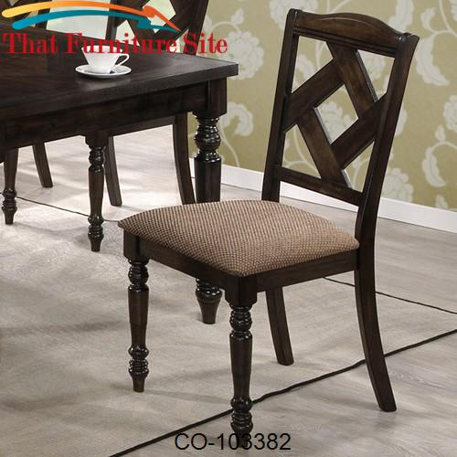 Dining 1033 Upholstered Dining Chair with Diamond Shaped Back by Coast