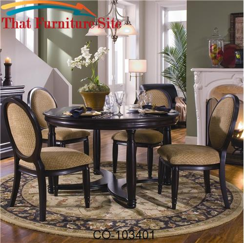 Duncan Round Dining Table with Crossing Base by Coaster Furniture  | A