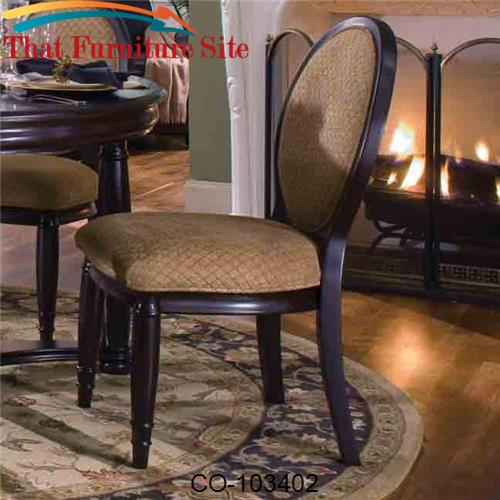 Duncan Oval Back Dining Side Chair with Fabric Cushions by Coaster Fur