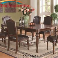 Anson Transitional Dining Table with Arrow Feet by Coaster Furniture