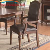 Anson Transitional Arm Chair with Black Upholstery by Coaster Furniture