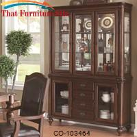 Anson Transitional China Cabinet with Five Glass Doors and Mirrored Back by Coaster Furniture