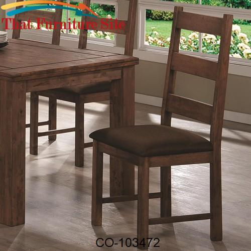 Maddox Dining Side Chair w/ Upholstered Seat by Coaster Furniture  | A