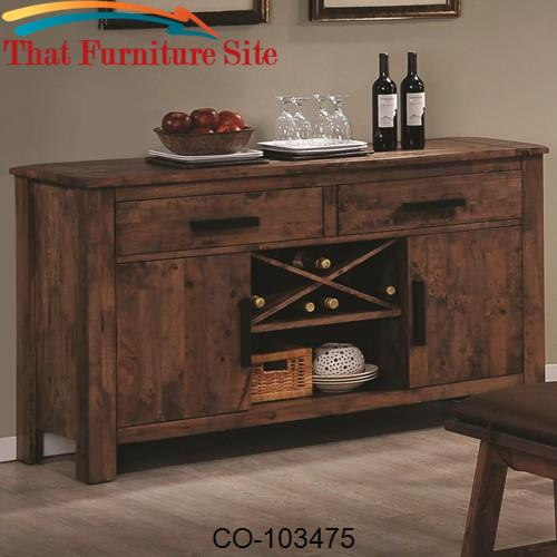 Maddox Dining Server w/ Wine Rack by Coaster Furniture  | Austin