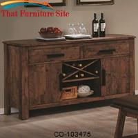 Maddox Dining Server w/ Wine Rack by Coaster Furniture