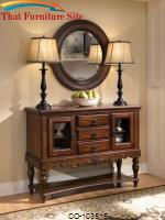 Addison Traditional Three Drawer Server with Glass Cabinets by Coaster Furniture