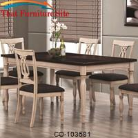Camille Transitional White Ash Dining Table by Coaster Furniture