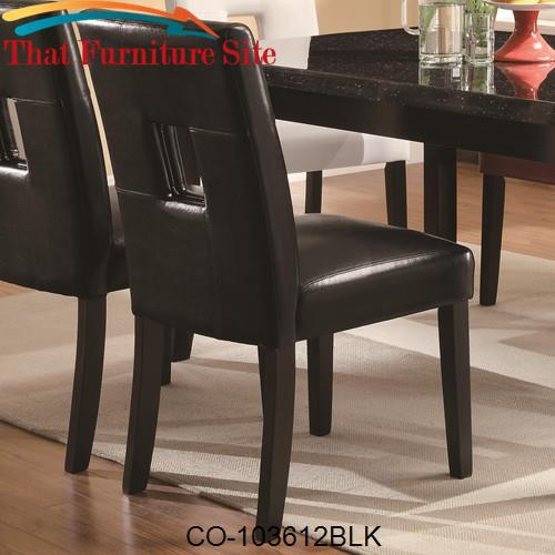 Newbridge Dining Side Chair w/ Plush Seating by Coaster Furniture  | A