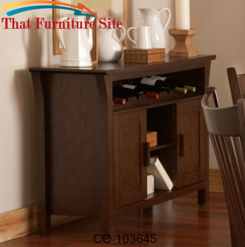 Rivera Casual Server with Two Cabinets and Wine Rack by Coaster Furnit