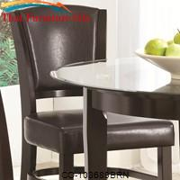 Dining 1036 Upholstered Counter Stool with Vinyl Cushion Seating by Coaster Furniture