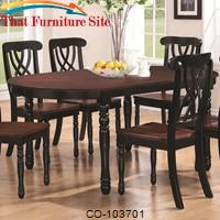 Addison Dual-Tone Oval Dining Table with Turned Legs & One 18-Inch Extension Leaf by Coaster Furniture