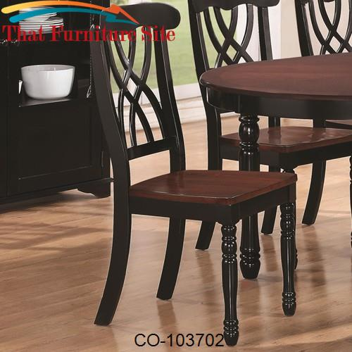 Addison Dining Side Chair with Double Waved X-Back Design & Two Front