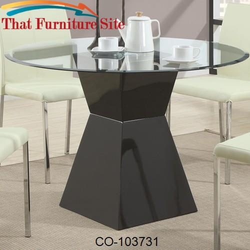 Ophelia Contemporary Round Glass Top, Round Glass Dining Table With Pedestal Base