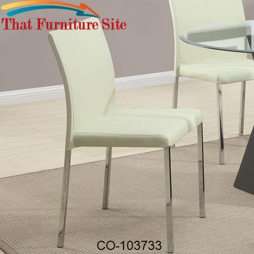 Ophelia Contemporary Cream Colored Dining Side Chair by Coaster Furnit