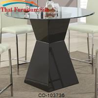 Ophelia Contemporary Glass Top Pub Table with Black Base by Coaster Furniture