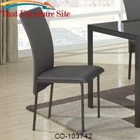 103740 Contemporary Charcoal Vinyl Dining Chair by Coaster Furniture