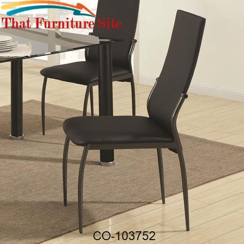 Excellent 103750 Contemporary Black Vinyl Dining Chair Gmtry Best Dining Table And Chair Ideas Images Gmtryco