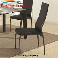 103750 Contemporary Black Vinyl Dining Chair by Coaster Furniture