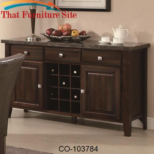 Milton Serving Table w/ Marble Top by Coaster Furniture  | Austin