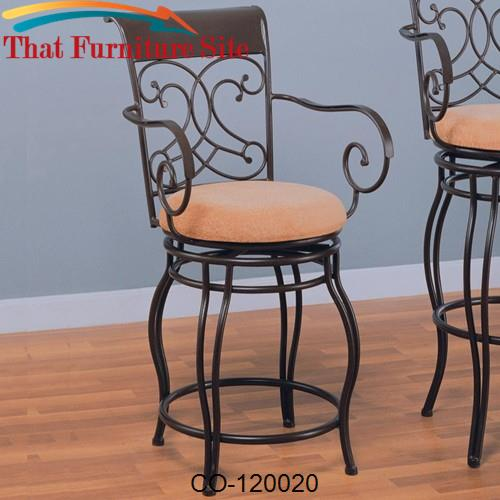 Bar Stools 24 Metal Stool, 24 Inch High Dining Chairs