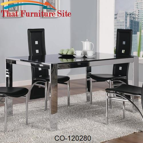 Broward Rectangular Dining Table with Tinted Glass by Coaster Furnitur